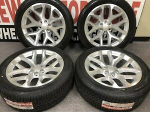 4 22x9 6x139 7 24 Snow Flakes Wheels Tires Chevy Replica Silverado Tahoe Gmc