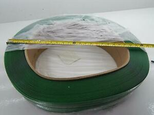 Pallet Of 14 Signode 1718lc 2x1498 Tenax 7 16 Green Plastic Strapping Rolls 9