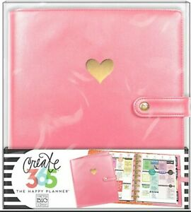 New Deluxe Pink Gold Foil Heart Cover Classic Happy Planner Create 365 Mambi Nip