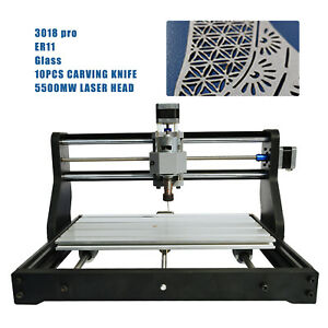 3 axis Cnc Laser Module Carving Milling Engraving Drill Machine Wood Cutter 3018
