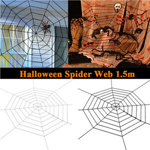 Giant Spider Web Halloween Haunted House Spooky Indoor Outdoor Yard Decoratio