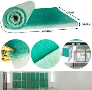 Paint Collection Spray Booth Fiberglass Filter Roll 3 3ft X 66ft X 2 5in