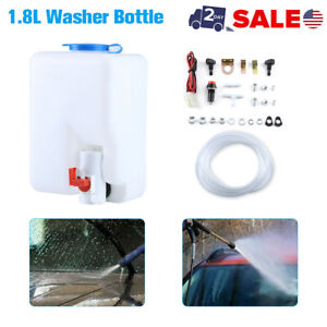 Car Windshield Glass Wiper Systems Universal Washer Tank Water Pump Bottle Kit