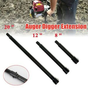 3pc Extension Auger 3 Size 20 12 8 Long 3 4 Shaft Gas Post Hole Digger Earth