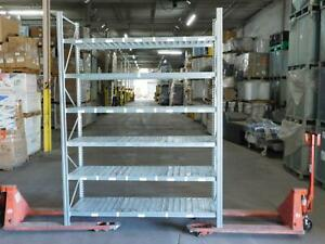 Section Of 6 Ft X 24 In X 8 Ft High Bolt less Racking Industrial Shelving