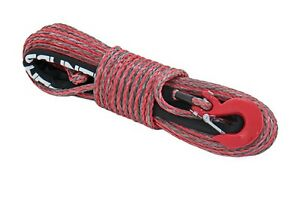 Rough Country Synthetic Winch Rope Red Grey 3 8 X 85 16 000 Lb Rating Rs116