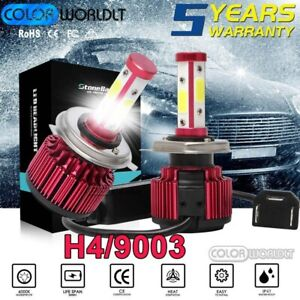 4 sided H4 9003 Hb2 Led Headlight Bulbs Hi low Dual Beams W canbus Super Bright