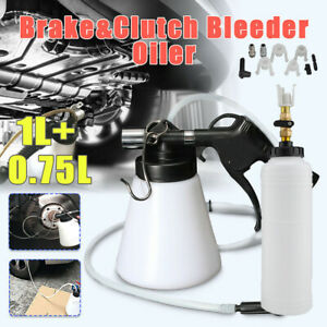 1l Car Brake Clutch Bleeder Bleeding Fluid Kit Air Powered Pneumatic Vacuum Tool