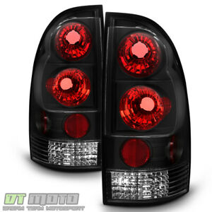 For 2005 2015 Toyota Tacoma Pickup Black Euro Tail Lights Brake Lamps Left Right