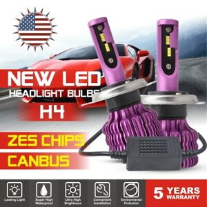 H4 9003 120w 32000lm Csp Led Headlight Kit Hi low Dual Beam Bulb 6000k W canbus