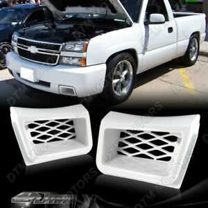 For Chevy Silverado 1500 Ss style Painted White Air Duct Front Bumper Caliper 2p