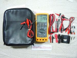 Fluke 789 Processmeter Kit With Lots Of Accessories Free Storage Case 15708