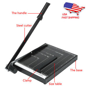 18 A4 To B7 Heavy Duty Guillotine Paper Cutter Photo T rimmer Booking Blade Bk
