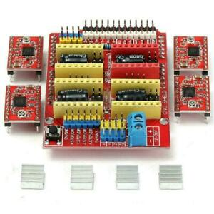 4pcs V3 Red A4988 Stepper Motor Driver Shield Board For Arduino V3 Engraver Tool