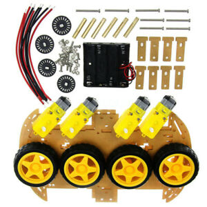 4wd Robot smart Car Chassis Kit With Speed Encoder 20pcs Set For Arduino Ca