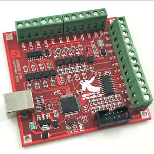 100khz Cnc Usb Mach3 Interface Board Motor Driver 4axis Breakout Card Controller
