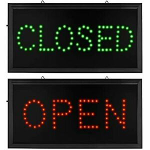 Open Closed Signs For Business Led Motion Light With Us Plug And On off Switch