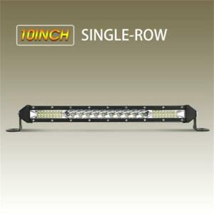 90w 10 Inch Spot Led Light Bar Cree Super Slim Offroad Work Lamp Single Row Us