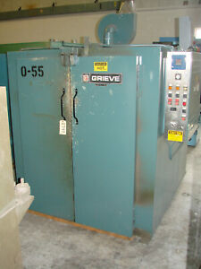 Grieve Industrial Walk In Powder Coating Oven Gas Fired 48 x60 x48 500f Heat