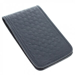 Asr Federal Leather Memo Note Pad Pocket Book Cover Basket Weave 3 X 5 Inch