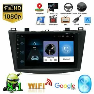 9 Android Radio For 2010 2012 Mazda 3 Gps Wifi Stereo Multimedia Player 1 16gb