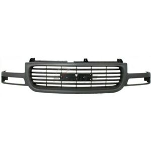 New Front Grille Gray Shell Fits Gmc Yukon 2000 2006 4 Door Gm1200429