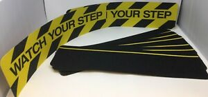 Anti Slip Non Skid Grit Grip Stair Step Safety Traction Tape Black Yellow Treads