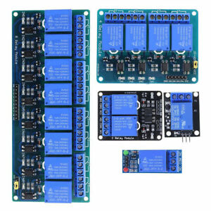 1 2 4 8 Channel 5v Relay Shield Module Board For Arduino Raspberry Pi Arm New