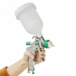 Automotive 1 4 1 7 2 0mm 600cc Cup Spray Gun Clearcoat Basecoat Paint Sprayer Us