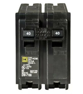 Square D Hom240 1 2 Pole 40 Amp 240 Volt Circuit Breaker New