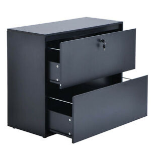 Lateral File Cabinet Safe With Lock 2 Drawer Locking Office Supplies Letter Size