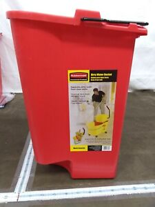 Rubbermaid 18 Quart Red Dirty Water Bucket For 35 Qt Wavebrake Mop Bucket