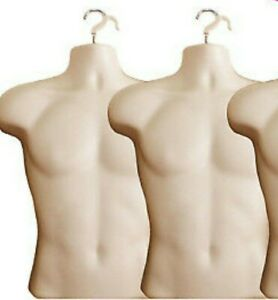 2 X Male Dress Form Mannequin Hard Plastic W Hook For Hanging 158f