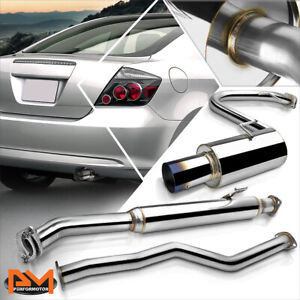 For 05 10 Scion Tc 2 Dr 2 4l 4 Burnt Muffler Tip Stainless Steel Catback Exhaust