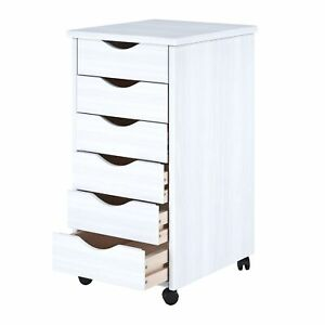 6 drawer Cart Cabinet Craft Sewing Storage Organizer File Office Document Wheels