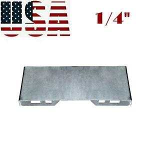 1 4 Thick Steel Quick Tach Attachment Mount Plate For Skid Steer Kubota Bobcat