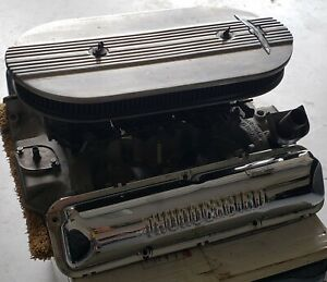 Ford Fe 390 Tri Power 3x2 Oem With Thunderbird Valve Covers Air Cleaner Cover
