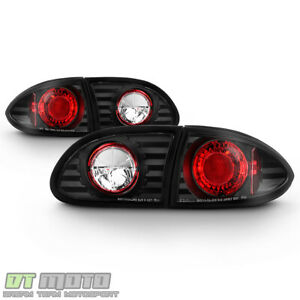 Blk 1995 2002 Chevy Cavalier Replacement Rear Tail Lights Brake Lamps Left right