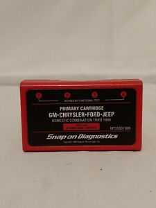Snap On Scanner Mt25001099 Primary Cartridge Gm Chrysler Ford Jeep Thru 1999
