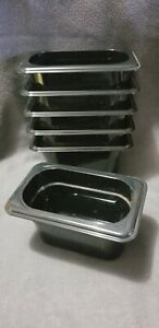 6 Cambro 94cw 1 9 Size 4 Black Camwear Food Pans Excellent Used Cond