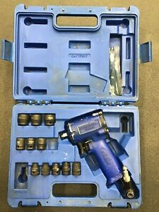 Cornwell Tools 3 8 Dr Mini Impact Wrench In Case With Incomplete Socket Set