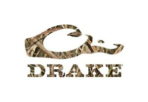 Drake Waterfowl 5 Logo Flat Decal Choose Your Color Or Camo