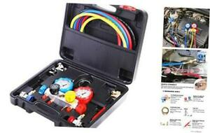 4 Way Ac Manifold Gauge Set Hvac Diagnostic Freon Charging Tool For Auto House
