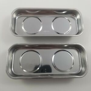 2 Magnetic Trays 6 5 Cm X 1 5cm 2 5 X 5 9 Stainless Steel Parts Tray