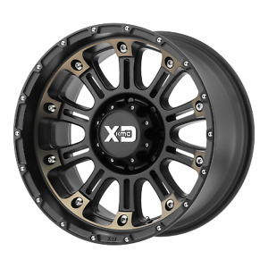 4 New 22x10 Xd Hoss 2 Satin Black Machined W Dark Tint Wheel rim 8x165 1 Et 18