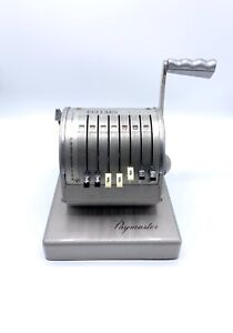 Vintage Pay Master Series X 900 Check Writer Very Heavy Duty