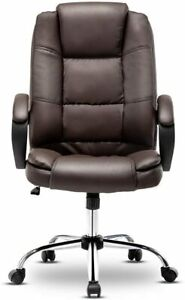 High Back Pu Leather Office Chair Executive Office Desk Seat Task Computer Chair