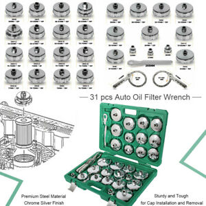 31pc Universal Oil Filter Cap Wrench Socket Adjustable Removal Wrench Tool Set