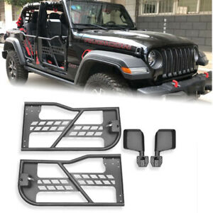 Tube Doors Front Rear Tubular Half Door For Jeep Wrangler Jk 2007 2018 2 Door