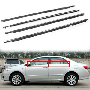 4pcs Door Belt Molding Weatherstrip Fit 2009 2012 Corolla Toyota Oem Auto Car